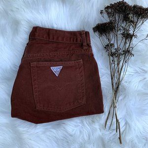 Vintage Guess High Rise Brown Mom Shorts
